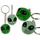 Metal keyring, polyresin alien