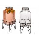 Glass drink dispenser, mason jar