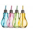 Großhandel Leuchtmittel: Farbiges  Trinkglas,  Glühlampe, mit ...