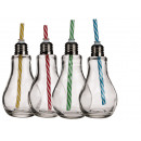 Glass, light bulb, with metal screw closure