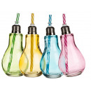 Colored Glass, light bulb, with Metallgewindeve