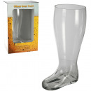 wholesale Drinking Glasses: XXL-Glass beer boot for ca. 2 l, H: ca. 32.5 cm