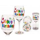Wine glass, Happy Birthday , for approx. 600 ml, H