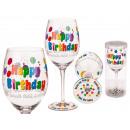Großhandel Geschenkverpackung: Weinglas, Happy Birthday, für ca. 600 ml