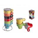 ingrosso Casalinghi & Cucina: Tazzina di ceramica, di circa 5 x 5 cm, a 6 colori