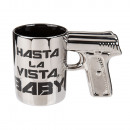 Silver earthenware mug with pistol grip, Hasta