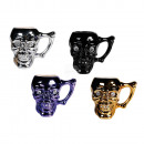 Cermic Mug, Skull with crystal stones, ca. 10 x12