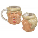 Porcelain Mug, Comic Trump, about 11 x 10 cm