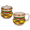 Ceramic mug, hamburger, about 15 x 8 cm