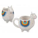 Ceramic mug, llama, about 15 x 8 cm