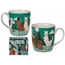 Porcelain mug, llama, about 10 x 8 cm