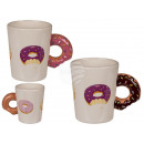 Ceramic mug, donut with donut handle