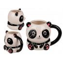 Kubek ceramiczny, panda, około 15 x 12 x 11 cm