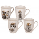 New Bone China Mug, Cat with Gold Crown