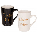 New Bone China mug with gold lettering,