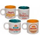 Ceramic mug, Happy Birthday , about 9 x 8 cm