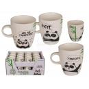 Porcelain mug, panda, about 8 x 7 cm