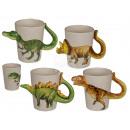 Keramik-Becher, Dinosaurier, ca. 15 x 8 cm