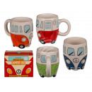 Ceramic mug, camper bus, about 13 x 10 cm