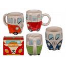 Kubek ceramiczny, autobus turystyczny, około 13 x