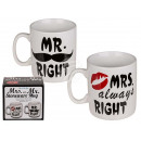 Stoneware Mug, Mr. Right & Mrs. Always Right