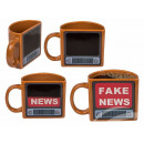 Stoneware mug, Fake News, reacts to heat