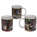 Ceramic mug, Marvel Retro, for about 325 ml