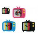 wholesale Clocks & Alarm Clocks: Silicone alarm clock, TV with test picture, ca. 8,