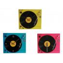 grossiste Hi-Fi & Audio: Horloge en verre,  Tourne-disque, env. 35 x 30 cm,