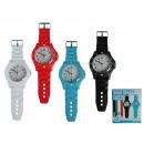Großhandel Uhren & Wecker:-XL-Kunststoff  Wanduhr, Coloured Watch II, ca. 60 x