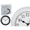 Plastic wall clock, D: 22 cm, 2-color sorting
