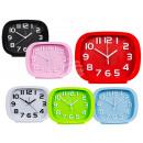Plastic alarm clock, 19 x 15 cm, 6-color sortie
