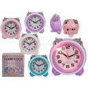 Plastic alarm clock with LED, about 10 cm, 4 times
