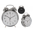 Metal alarm clock, chrome, approx. 21 cm, for 1 mo