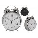 wholesale Clocks & Alarm Clocks: Metal alarm clock, chrome, approx. 21 cm, for 1 mo