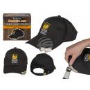 Baseball cap with bottle opener, Beer King