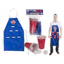 Kitchen apron, Beer Pong, approx. 80 x 50 cm