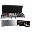 wholesale Parlor Games: Poker Set in Alum.  Case with 5 dices, 2 decks of c