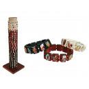 grossiste Bijoux & Montres: Bracelet en bois,  Bouddha, 3  couleurs ass., 144 ...