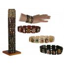 grossiste Bijoux & Montres: Bracelet en bois  aux motifs  religieux, 3 ...