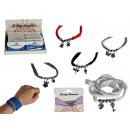 groothandel Armbanden: Textiel band met  metalen hangers, Fashion Style,