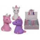 wholesale Puzzle: Puzzle eraser, unicorn, about 4 x 2 cm, 3-colored