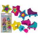 wholesale Puzzle: Puzzle eraser, Roller Blades & Stars, 6x sor