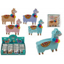 Eraser, llama, about 4 x 4 cm, 4-color assorted