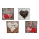 Immagine, cuore, tela su telaio in legno, 30 x 30