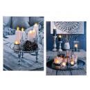 Image 6 warm white LED, candle holders & candl
