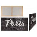 wholesale Pictures & Frames: 3d image, Paris, linen on wooden frame, about 80 x