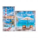 Beeld, strand, canvas op een houten frame, 40 x 40