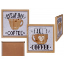 wholesale Business Equipment: Wooden sign, Coffee, cup 3D optic, for hanging