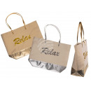 Shopper, relax, metallic Finish , with inner linin